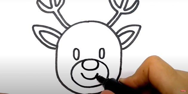 Piirtää hirvi hymy