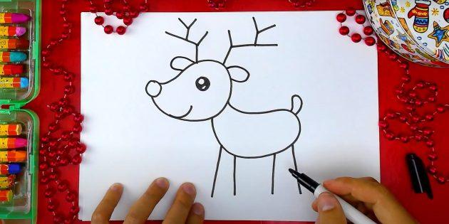 Miten piirtää hirvi: kuva korvat