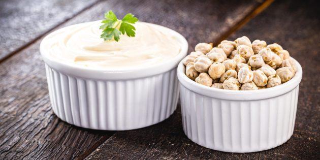 Vegan hjemmelaget majones på Aquafabe