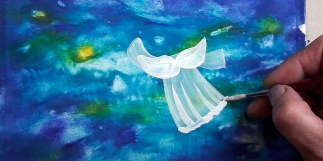 چگونه به رسم فرشته: حذف بسته و خشک کردن تصویر