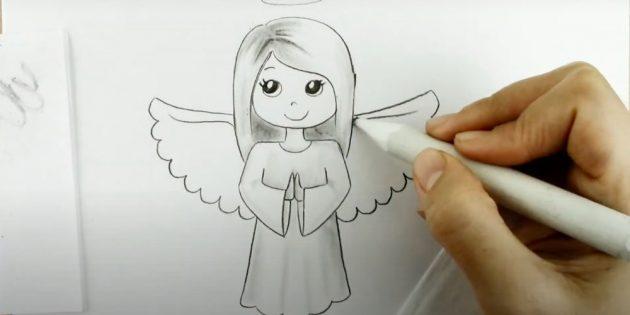 چگونه به رسم فرشته: بال های تصویر