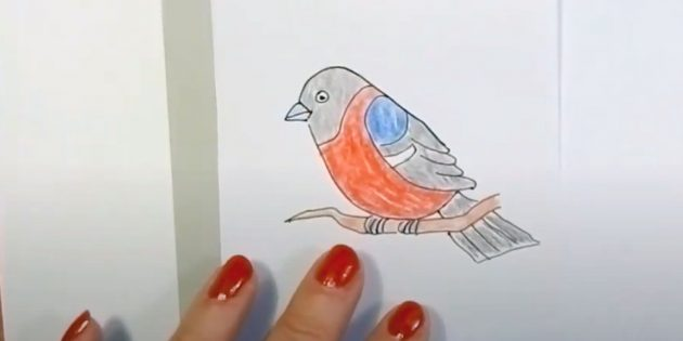 Hvordan tegne tegneseriebully med fargede blyanter