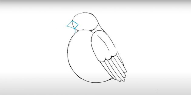 ارسم البيضاوي في وسط الورقة