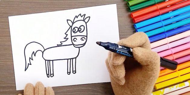 Teken benen en staart