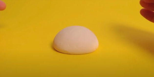 «Тасбақа» пластилинінің қолөнері: қабықты алыңыз