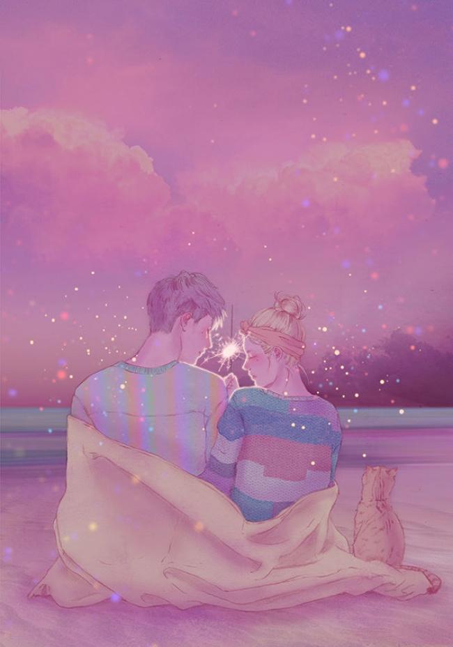 12 Ilustrasi ini gambarkan betapa indah romantis dan