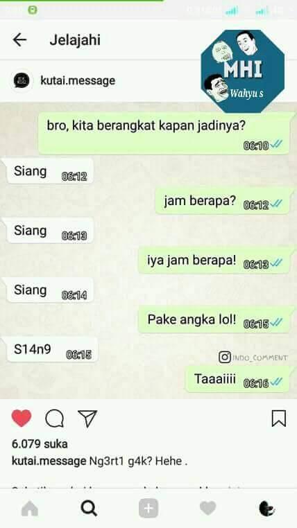 10 meme obrolan lucu di WhatsApp ini bakal bikin kamu