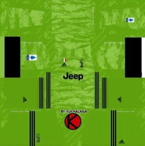 Reserve kit Juventus goalkeeper