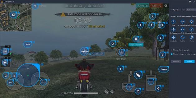 tecla-veiculo-free-fire-cke Saiba como rodar Free Fire no PC com emulador Android leve!