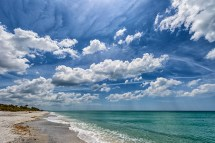 Cloudscape With Sun Sea And Sand - Carribbean Blue