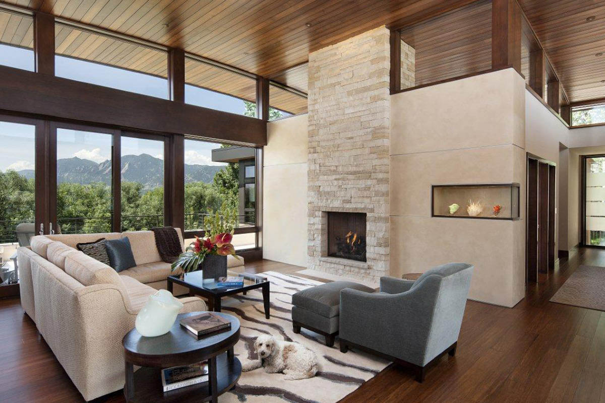 Open Air Living Room contemporary homes Mosaic