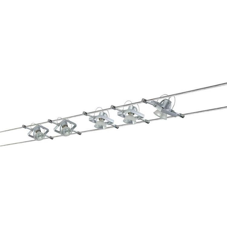 MAC 2 Kit de 5 Spots sur Câbles Métal L10m chrome mat