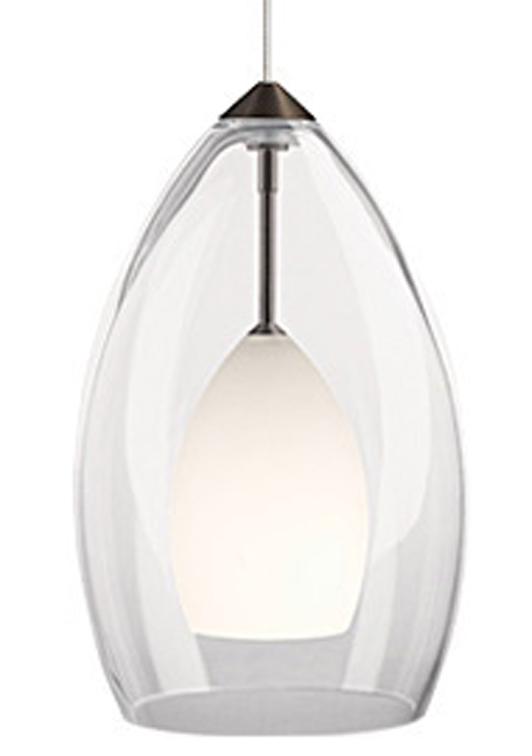one light pendant from the ayra collection by kichler 44098clp