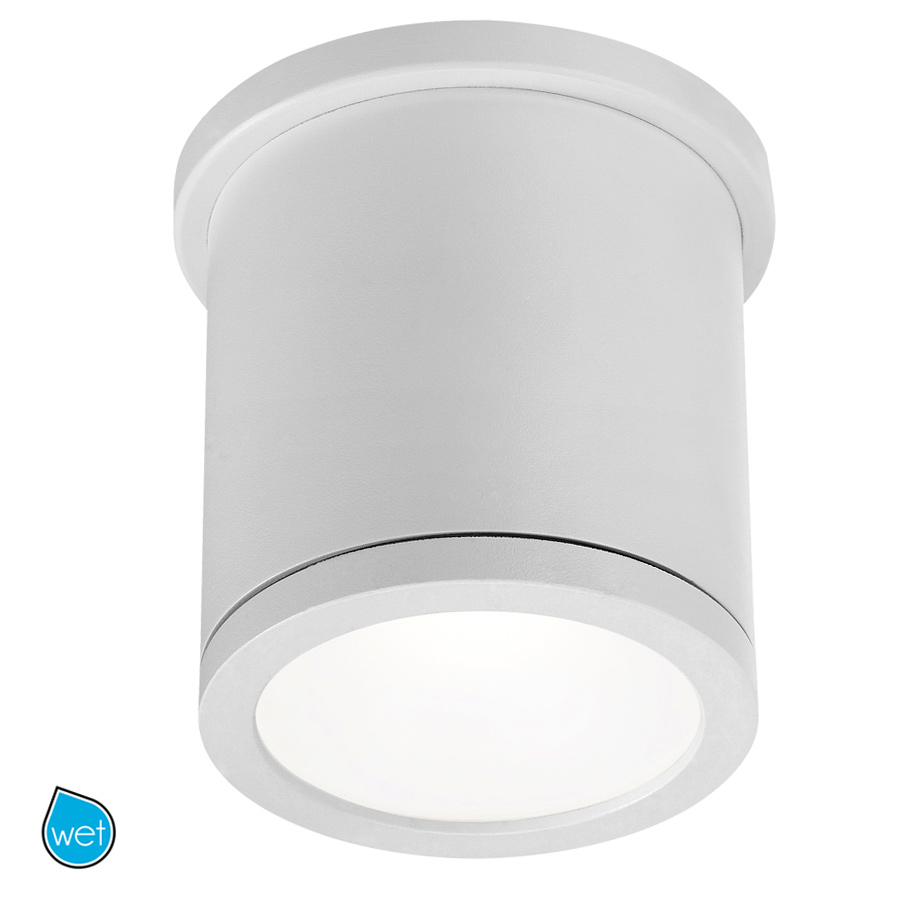 w a c lighting led flush mount in white from the tube collection fm w2605 wt