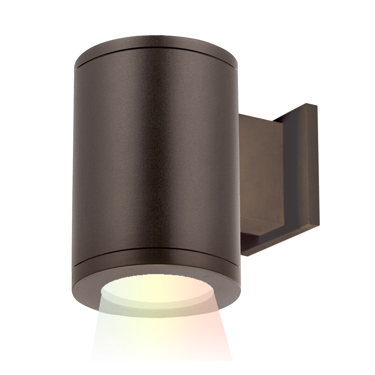 led wall mount from the tube architectural collection by wac lighting ds wd05 f40a bz