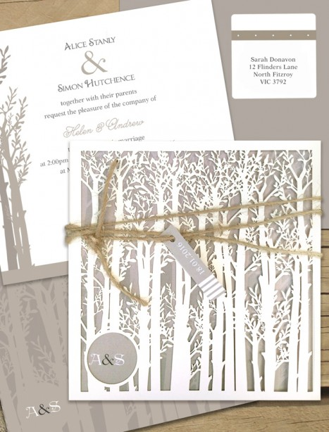 Endless Forest Laser Cut Wedding Invitation Online