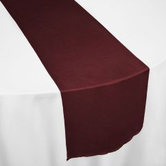 Teal Chair Covers For Wedding Bedroom Bucket Burgundy Faux Dupioni Table Runner By & Linens