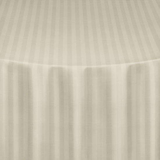 Ivory Satin Stripe Table Linen by Chair Covers  Linens
