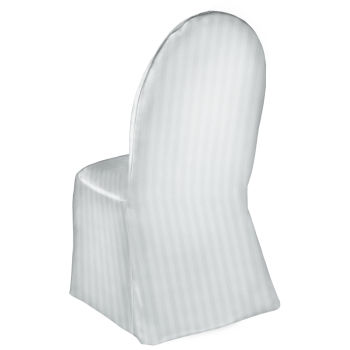 white banquet chair covers grey dining chairs uk satin stripe cover by linens