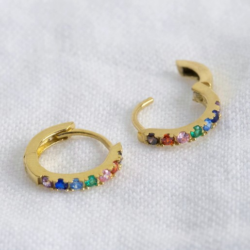 gold sterling silver rainbow