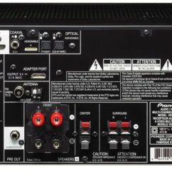 pioneer vsx 521 k 5 1 home theater receiver glossy black discontinued by ma  [ 1600 x 691 Pixel ]