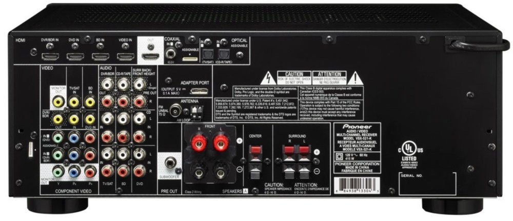 medium resolution of pioneer vsx 521 k 5 1 home theater receiver glossy black discontinued by ma