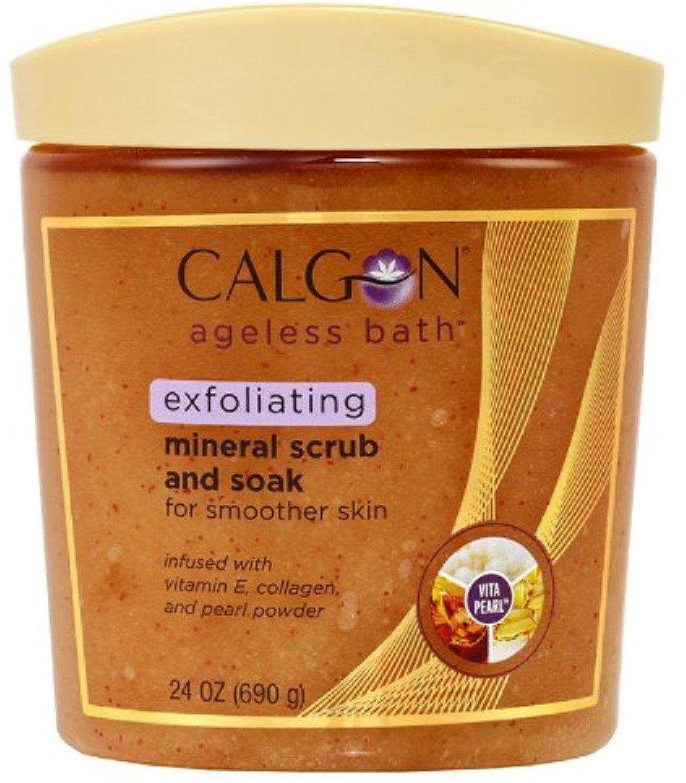 Calgon Ageless Bath Exfoliating Mineral Scrub Amp Soak W