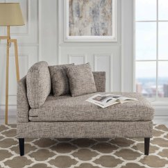 Chaise Chairs For Living Room Navy Blue Sofa Design Classic Linen Fabric Lounge Bedroom Ash Image Is Loading
