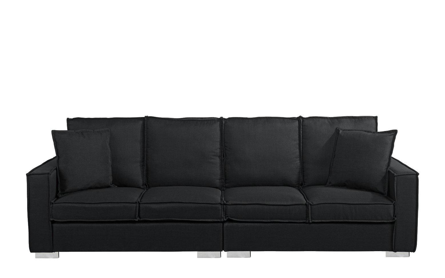 Extra Large Modern Living Room Fabric Sofa 4 Seat Couch