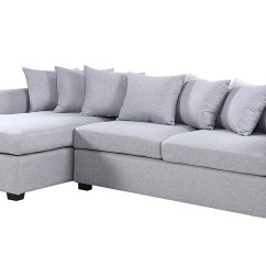 Grey Large L Shaped Sofa Outdoor Puerta 5 Piece Wicker Sectional Set Modern Fabric Shape Couch Extra