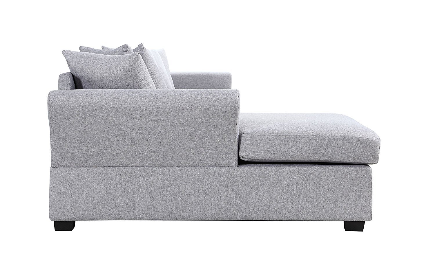 grey fabric l shaped sofa triple recliner modern large sectional shape couch extra