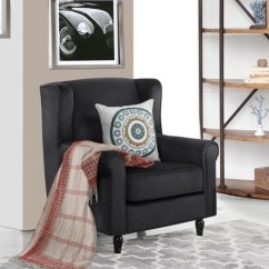 Fabric Accent Chairs Living Room Dark Grey Sectional Ideas Classic Scroll Arm Velvet Chair Armchair Details About Black