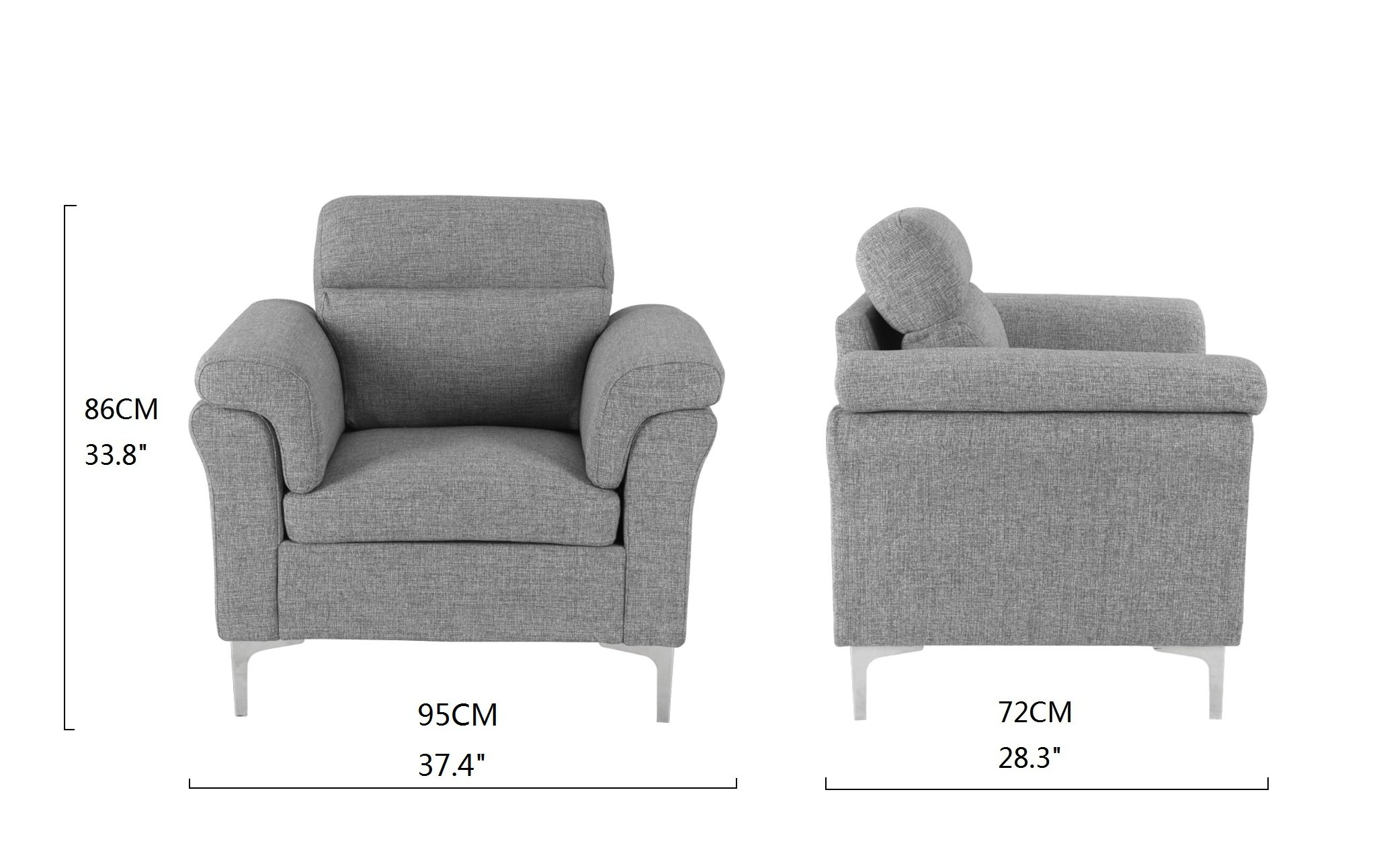 light grey chair ez barber classic living room family fabric armchair accent details about
