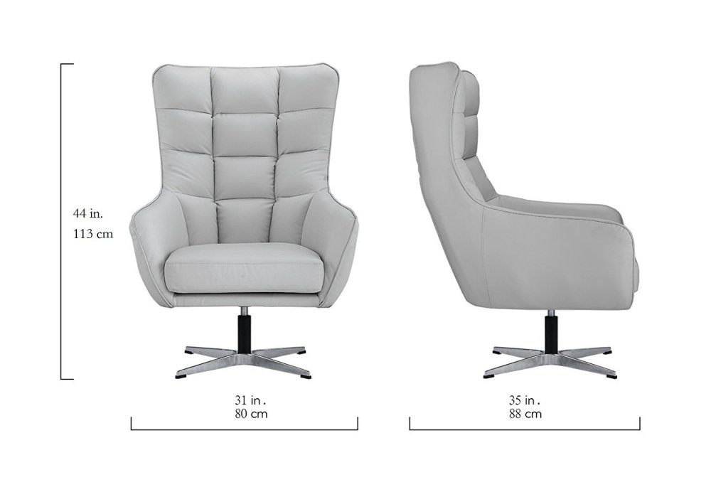 medium resolution of details about living room bonded leather fabric tufted armchair home office chair light grey