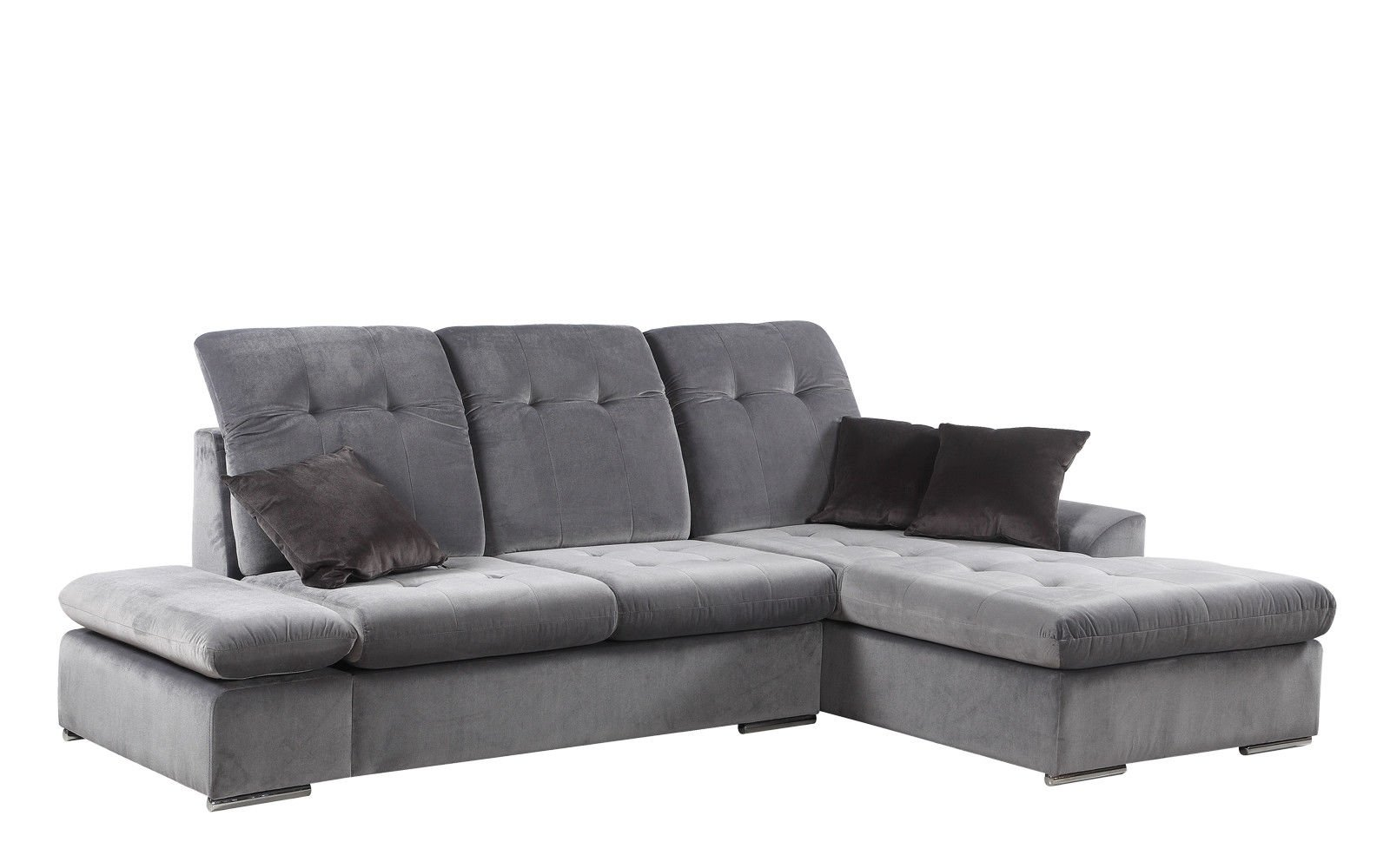 modern microfiber grey sectional sofa small rooms ideas with chaise l shape