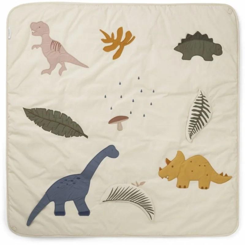 tapis d eveil dinosaure beige
