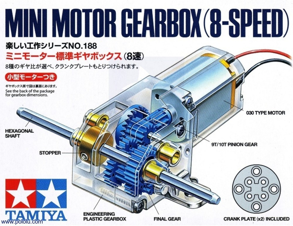 medium resolution of box front for tamiya mini motor gearbox 8 speed kit