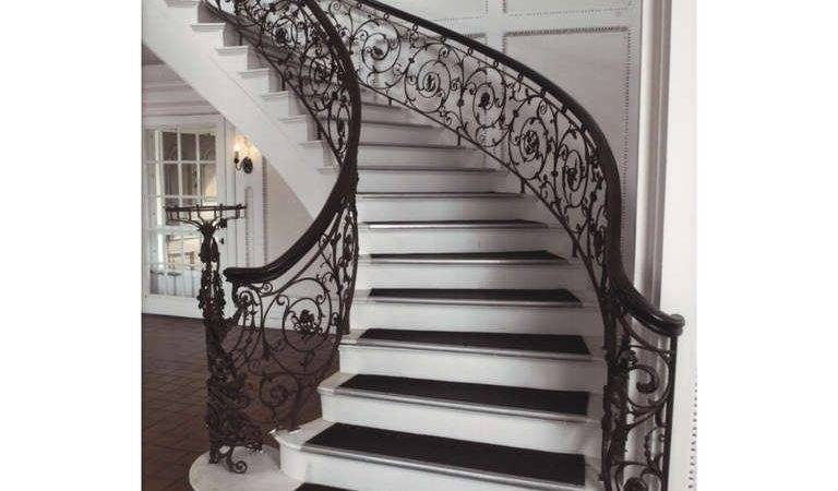 Samuel Yellin Grand Staircase Railing Sale Stdibs Little Big   Wood Stairs For Sale   Cheap   Trailer   Open Tread   Landing   Wooden