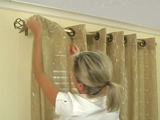 How To Install Window Drapes Video Grommet Drapery Panels InstDrpGrommet