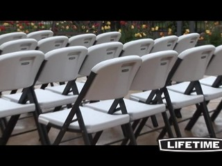 lifetime chairs and tables computer chair covers nz folding 32 pk with cart video gallery