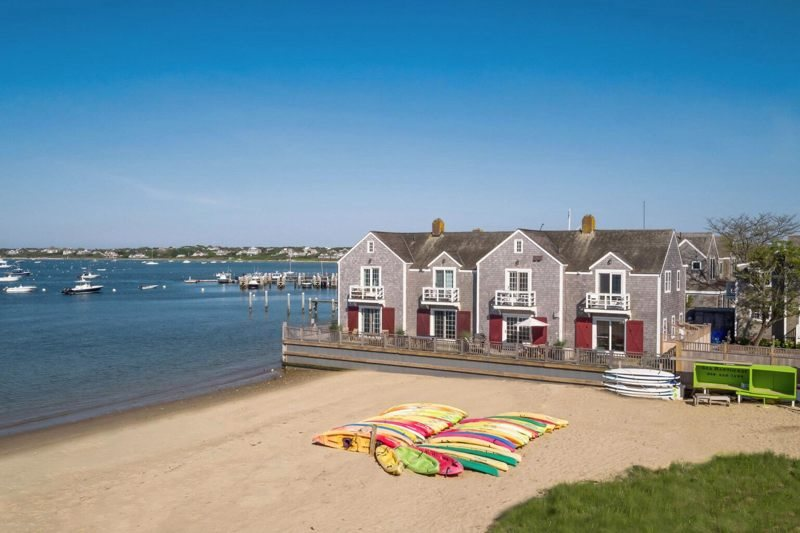 nantucket beach chair company covers and table cloths accommodations downtown waterfront town homes front corner unit home right on harbor