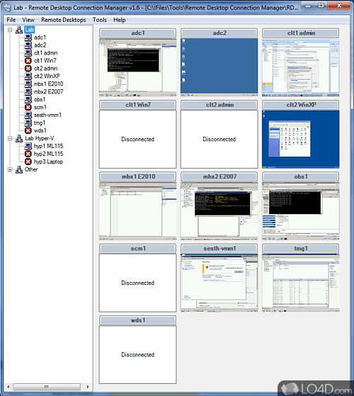 Remote Desktop Connection Manager - Screenshots