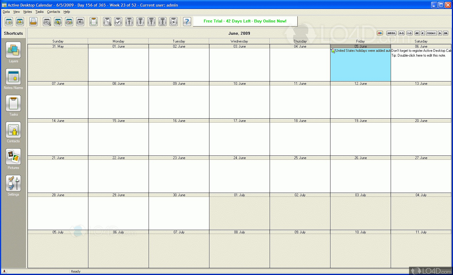 Google calendar is a powerful time management tool. Active Desktop Calendar - Download