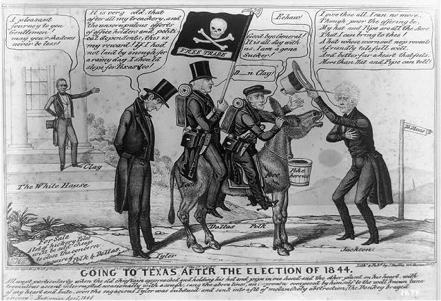 Going to Texas after the election of 1844