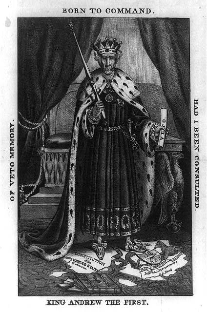 Andrew Jackson in kingly robes
