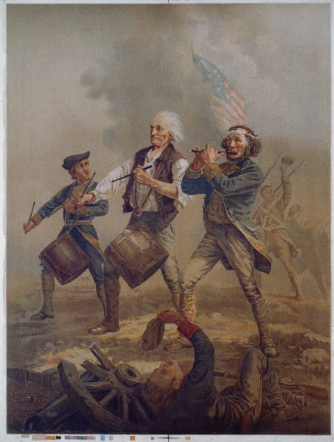 Title: Yankee doodle 1776 / A.M. Willard. Creator(s): Clay, Cosack & Co., lithographer Related Names:    Willard, Archibald M., 1836-1918 , artist    Ryder, James F., 1826-1904 , publisher Date Created/Published: Cleveland, Ohio : Pub. by J.F. Ryder, c1876.