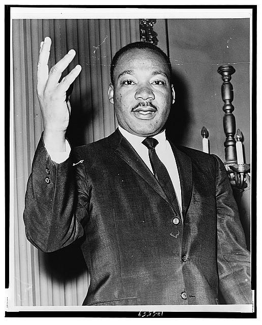 [Dr. Martin Luther King, Jr., half-length portrait, facing front]