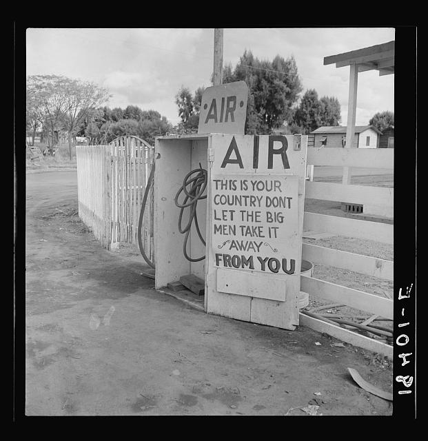 Gas station. Kern County, California