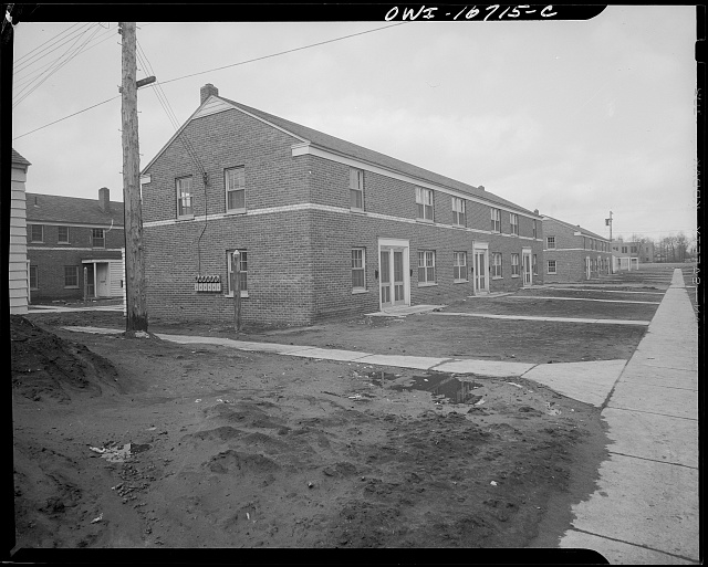Detroit, Michigan. Multiple unit at the Sojourner Truth homes, a new U.S. federal housing project