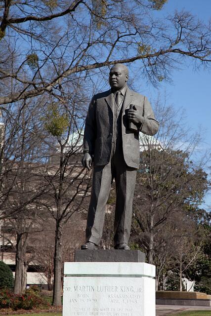 Statue of Dr. Martin Luther King, Jr., in the Kelly Ingram Park, Birmingham, Alabama